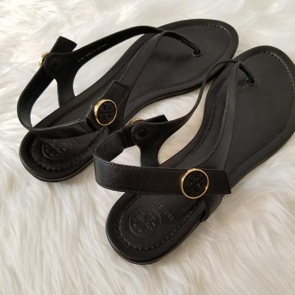 Tory Burch scarpe   Nero Minnie Travel Sandalos Size 85   Poshmark